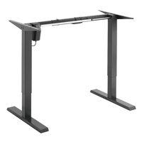 Single Motor Height Adjustable Electric Sit Stand Desk Table Black Frame only S05-22R
